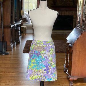 Talbots Petites Spring Floral Skirt